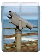 View Finder At The Beach Duvet Cover