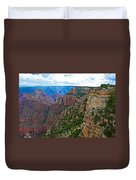 View Five From Walhalla Overlook On North Rim Of Grand Canyon-arizona Duvet Cover