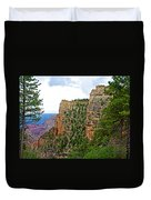 View Four From Walhalla Overlook On North Rim Of Grand Canyon-arizona Duvet Cover