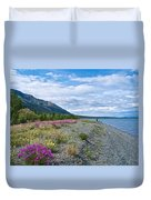 View Four Kluane Lake From Cottonwood Campground Near Destruction Bay-yk Duvet Cover