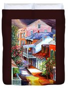 View From A Bourbon Street Balcony Duvet Cover