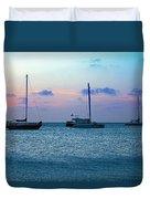 View From A Catamaran3 - Aruba Duvet Cover