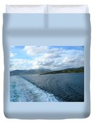 View From A Scottish Ferry Duvet Cover