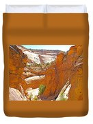 View From Above Capitol Gorge Pioneer Trail In Capitol Reef National Park-utah Duvet Cover