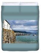 View From Back Beach - Lyme Regis Duvet Cover