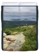 View From Cadillac Mountain - Acadia Park Duvet Cover