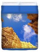 View From Of Bryce Canyon Duvet Cover by Yva Momatiuk John Eastcott