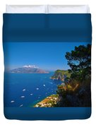 View From Capri Duvet Cover