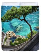 View From Capri.italy Duvet Cover