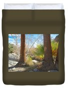 View From Creek Bed In Andreas Canyon In Indian Canyons-ca Duvet Cover