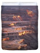 View From Grandview Point Canyonlands Duvet Cover