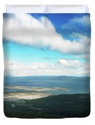 View From Martial Glacier, Ushuaia Duvet Cover