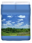 View From Monticello Duvet Cover