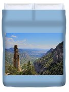 View From Montserrat Mountain Duvet Cover