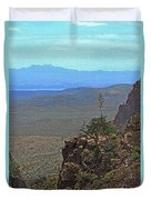 View From Parker Creek Canyon Duvet Cover