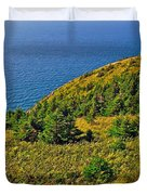 View From Skyline Trail In Cape Breton Highlands Np-ns Duvet Cover