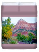 View From South Campground In Zion Np-ut Duvet Cover