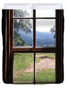 View From The Cabin Duvet Cover by Todd Blanchard