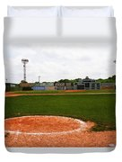 View From The Dugout Duvet Cover