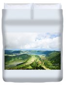 View From The Top Of Sete Cidades Duvet Cover