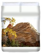 View From Zion-mount Carmel Highway In Zion Np-ut Duvet Cover