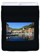 view in Portofino Duvet Cover