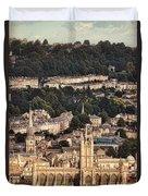 View Of Bath England Duvet Cover