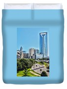 view of Charlotte North Carolina Duvet Cover