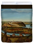 View Of Fort Snelling Duvet Cover