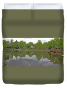 View Of Japanese Garden, Wroclaw, Poland Duvet Cover