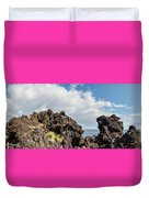 View Of Lava Rock On The Coast, Pico Duvet Cover