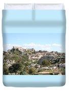 View Of Les Baux De Provence Duvet Cover