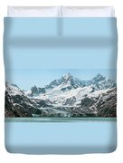 View Of Margerie Glacier In Glacier Bay Duvet Cover