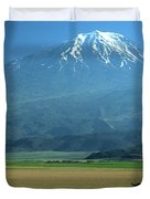 View Of Mount Ararat In Turkey Duvet Cover