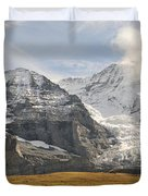 View Of Mt Eiger And Mt Monch, Kleine Duvet Cover
