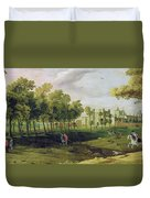 View Of Nonsuch Palace In The Time Duvet Cover