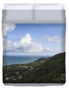 View Of Ocean And Punta Tuna In Puerto Rico Duvet Cover