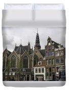 View Of Oude Kerk Amsterdam Duvet Cover