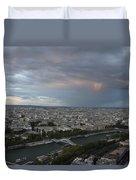 View Of Paris Duvet Cover