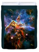 View Of Pillar And Jets Hh 901902 Duvet Cover