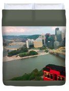 View Of Pittsburgh From Mt. Washington Duvet Cover