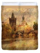 View Of Prague Duvet Cover