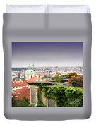 View Of Prague Duvet Cover