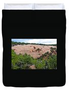 View Of Rock Dome Surface From Sandal Trail Across The Canyon In Navajo National Monument-arizona Duvet Cover