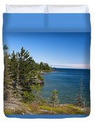 View Of Rock Harbor And Lake Superior Isle Royale National Park Duvet Cover by Jason O Watson
