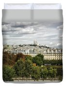 View Of Sacre Coeur From The Musee D'orsay Duvet Cover