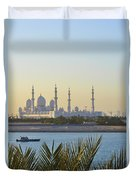 View Of Sheikh Zayed Grand Mosque Duvet Cover