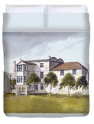 View Of Sir Noel De Carons House, 1809 Wc On Paper Duvet Cover