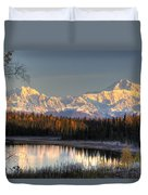 View Of Southside Mount Mckinley And Duvet Cover