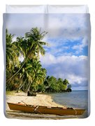 View Of Tahiti Duvet Cover